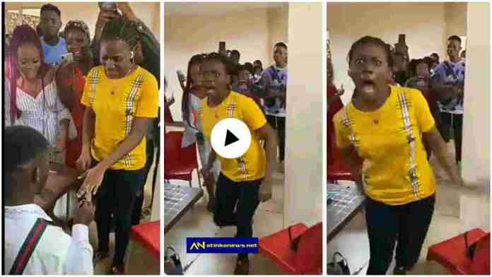 Lady who 'went mad' after boyfriend proposed to her on Vals Day finally speaks