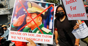 Myanmar military ruler addresses nation as protests intensify