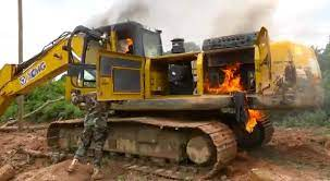 President Akufo-Addo endorses destruction of illegal mining excavators