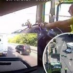 A27 crash: Lorry driver caught on camera texting before collision
